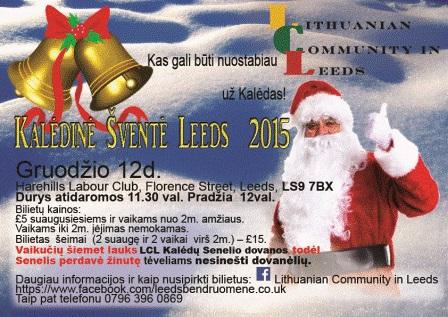 Kalėdinė Šventė Leeds 2015