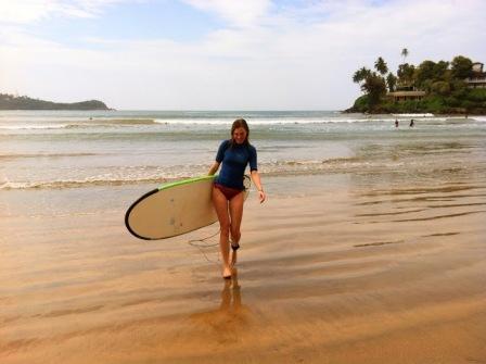 Šri lanka: Truputėlis jūros. Lets go surfing.