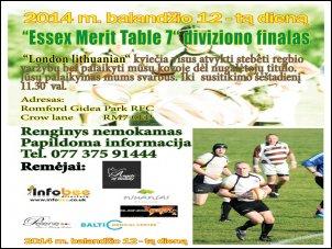 ''Essex Merit Table 7'' diviziono finalinės varžybos